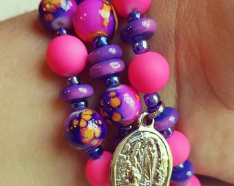 Our Lady of Lourdes Matte Finish Stack Set