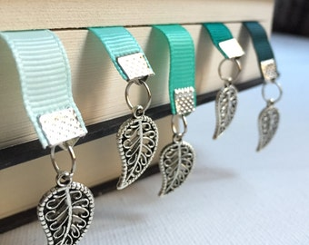 Tree Leaf bookmark || Ribbon Bookmark