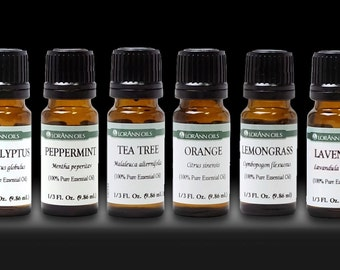 Aromatherapy Top 6 Essential Oils 100% Pure & Therapeutic grade - Basic Sampler Gift Set - 10ml, 1/3oz bottles