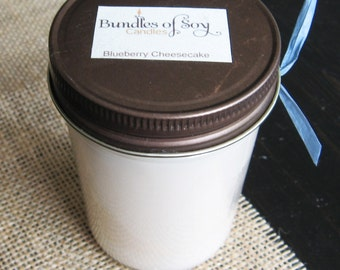 Blueberry Cheesecake 8 oz soy candle