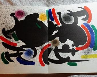 1972 Joan Miro,  Numbers VII,  Original Color Lithograph,  Vintage Joan Miro,  Miro Lithograph, Maeght, Paris #863