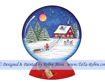 261 Bringing Home the Tree Decorative Painting Pattern