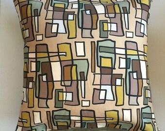 Bright Lights Big City Decorative Pillow-22x22-Throw Pillow-Pillow Cover-Neutral-Interior-Design-Fabric-Art-Decorating-Home Decor