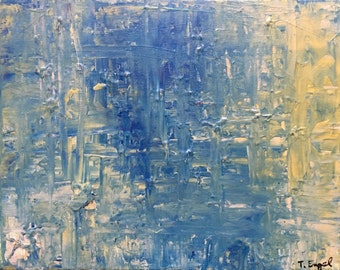 Syre - Small Abstract Painting by Teddy Engel