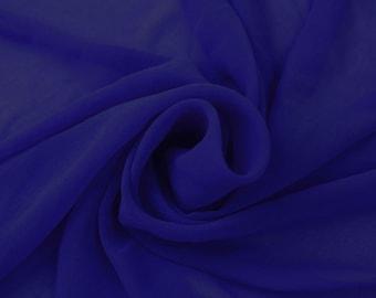 Hi Multi Chiffon Fabric by the Yard - Royal Lush (LF1)