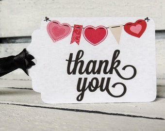 Thank You Heart Banner Tags