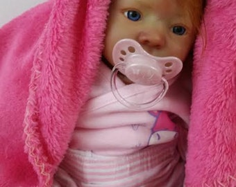 AA Reborn baby doll Realistic handmade reborn baby doll  lifelike vinyl Ginger baby girl doll