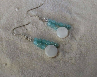 Mother of Pearl with Aqua