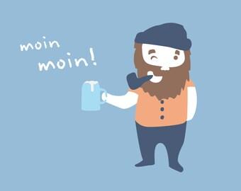 """Flip book (flipbook) """"Moin Moin"""""""