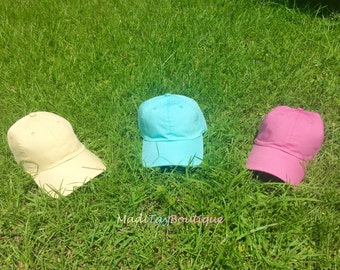 Monogrammed Pastell Hats