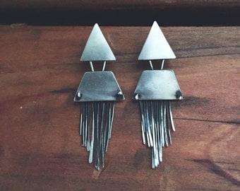Silver Clio Earrings