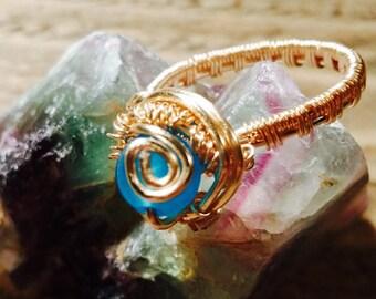 Topaz Swirl Ring