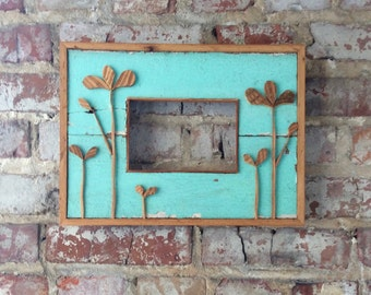 "Reclaimed Wood Frame-Recycled Wood Frame-Reclaimed Art-Choose your size 4"" x 6"", 5"" x 7"", 8 ""x 10"""