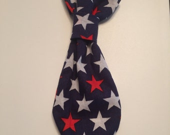 Stars small dog tie