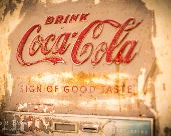 Vintage Coke Coca-Cola Vending Machine Photography Fine Art Wall Print