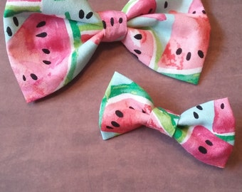 Mommy and me watermelon hair bow clips