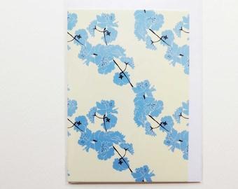 Greeting Cards - Japanese Cherry Blossoms - Sakura - Coral/Aqua/Cream/Blue/Navy/Pink - Patterns