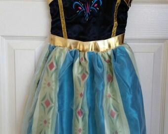 Ready to ship-Frozen Anna Costume, Anna Coronation Dress, Kid Costume