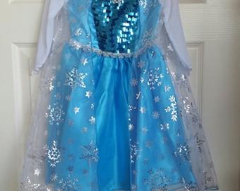 Ready to Ship-Frozen Elsa Costume, Elsa Dress