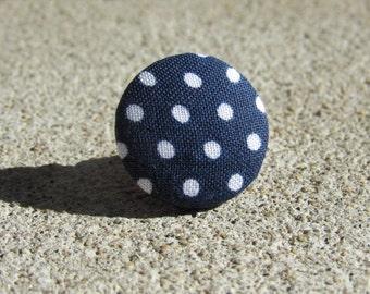 PIN to back of coat, marine pea