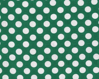 Dark Green Polka Dot -Ta Dot Fabric by Michael Miller