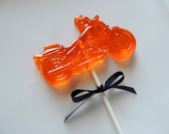 8 Large Motorcycle Harley Davidson Lollipops Bike Motorcycle Birthday Party Favors Candy