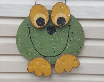 Wooden Frog decoration