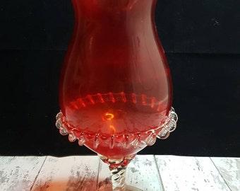 Vintage Murano ruby brandy glass