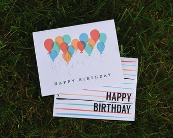 Birthday Cards - Set of Two
