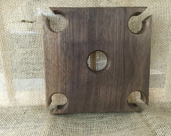 "Square Wine caddy  approximately 7"" sq."