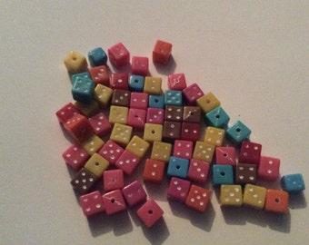 Dice beads / mixed beads / dice / beads