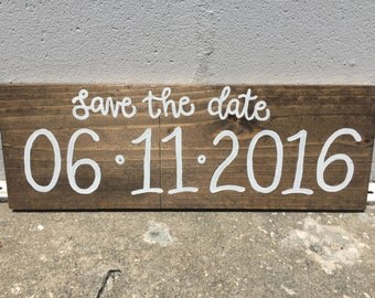 Save the Date - Wooden Sign - Wedding / Baby Announcement