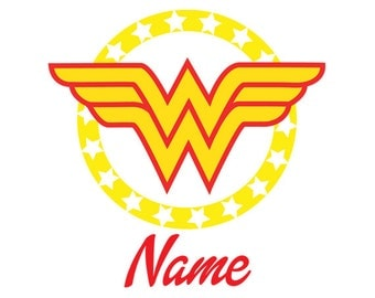 Wonder Woman, Personalized glossy Vinyl Decal,