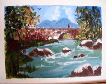 Stone Bridge Scene by Joan Waff