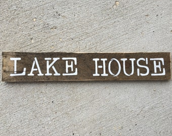 Hand Painted Wooden Sign- Lake House