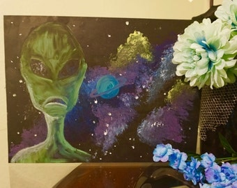 Alien Encounter Painting Print
