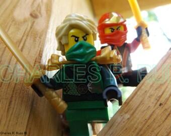 LEGO Ninjago Red Ninja and Green Ninja Original Photograph