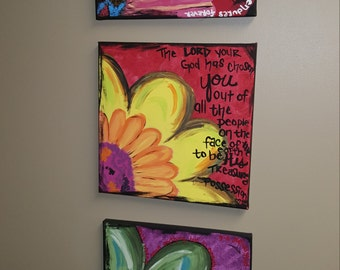Colorful Flower Bible Verses