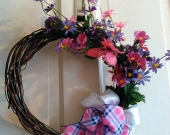 floral willow vine wreath