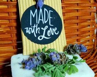 Purely Made With Love Locally Grown Organic Lavender Orange Bar Soap