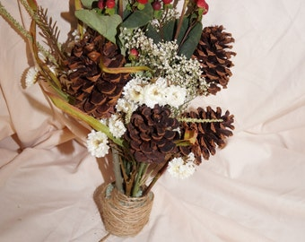 Half Real and Half Artificial Flower Bouquets