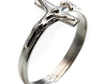 Silver Cross ring Assisi