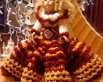 Handmade Crocheted Bed Doll- Florida