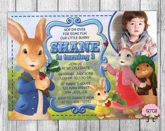 Peter Rabbit Invitations, Peter Rabbit Invitation, Peter Rabbit Party, Beatrix Potter Invites, Peter Cottontail Printable Invite, Custom