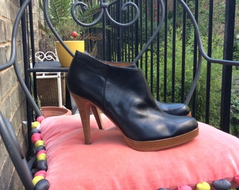 Steve Madden vintage brown leather booties  UK size 7 EU size 40