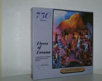 """VINTAGE JIGSAW PUZZLE : 750 pieces  """"pieces of dreams"""" 18"""" x 24 """""""