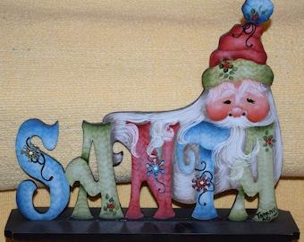 Santa Shelf Sitter - Jamie Mills-Price design handpainted by Tammy Roberds - Christmas