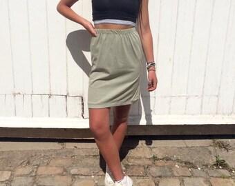 Vintage Jersey Tube Skirt