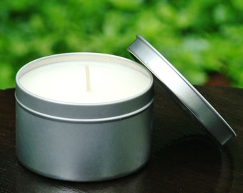 Soy Candle - Scented Soy Candle – Zesty Orange - Candle in Tin - VRJJ Candles