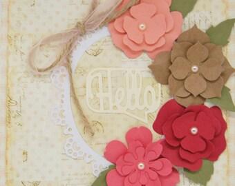 Vintage Flowers handmade card